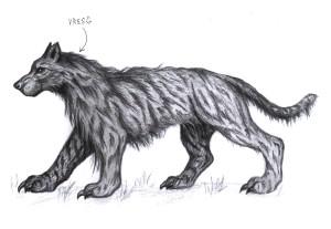 šelma, vlk, tiger, monštrum