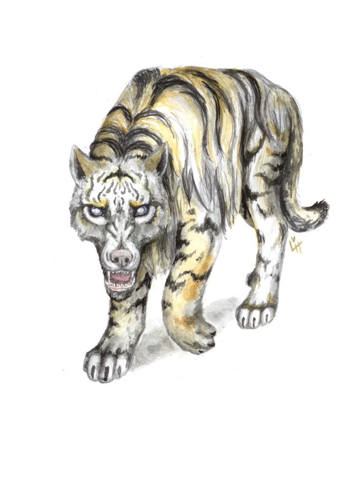 vresg, tiger, vlk, šelma, dravec, predátor